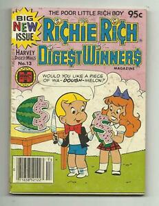 Richie Rich Digest Winners #13 - LIttle Lotta - Jackie Jokers - VG+ 4.5