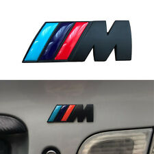 Black ///M Logo Emblem M Badge Metal Sticker Car Fender Trunk for BMW M-Series