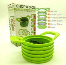 Push Food Chopper Vegetable Salad Fruit Peeler Cutter Slicer Dicer Greater UK