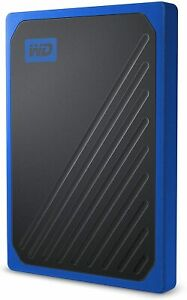 WD My Passport Go Portable SSD 500GB (Cobalt), USB 3.0, Up To 400 MB/S