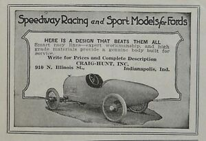 1919 Speedway Racing Models for Fords Jersey City NJ Abgindon IL Indianapolis IN