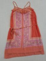 Lauren Conrad Women's Spaghetti Strap Shift Dress Size 4 Floral Pink Coral TA