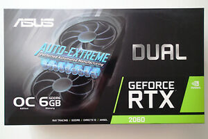 ASUS GeForce RTX 2060 OC 6GB GDDR6 VR Graphics Video Card DUAL-RTX2060-O6G-EVO