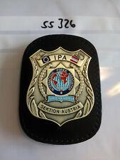 Polizei IPA Marke Sektion Österreich Austria auf Lederklip 1 Stück (ss326)