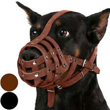 Leather Dog Muzzle Doberman German Shepherd Basket Black Brown