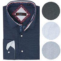 Alpine Swiss Wayne Mens Long Sleeve Button Down Dress Shirt Button Front Shirt