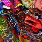 BATIK Fabric Strips Scrap Pack 100% Cotton fabric lot BY THE POUND