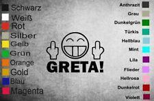 """Sticker / Autoaufkleber """" Fuck you Greta   """" passend für Heckscheibe /Stoßstange"""