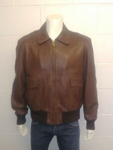 """W.B.PLACE & CO Genuine 100% Leather Jacket. Made in U.S.A. Size 46"""" Men's"""