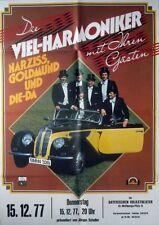 VIEL HARMONIKER - 1977 - Konzertplakat - Narziss Golmund - BMW 328 - Tourposter