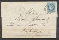 1876 Lettre N°60C Ambulant, Convoy.-Station BLEU St Saturnin-les-Avignon P870