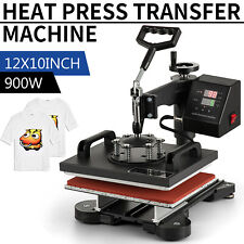 12x10 Swing Away Heat Press Machine T Shirt Transfer Kit Sublimation Digital