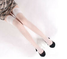HOT Ladies Sheer Lace Top Stay Up Stockings Thigh High Pantyhose Hold-up Tights