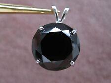 12.15ct NATURAL BLACK DIAMOND NECKLACE/PENDANT,FREE DIAMOND TESTER,CERTIFICATE.