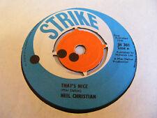 """NEIL CHRISTIAN That's Nice   Strike UK 1966 7"""""""