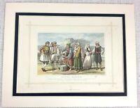 1882 Antico Stampa Tradizionale Greco Costume Folk Abito Pelagasi Persone
