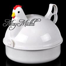 Egg Cooker Poacher Boiler Steamer Microwave For 4 Eggs Plastic Chicken Shaped