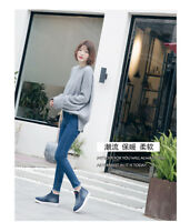 Women Winter Denim Snow Boots Flat Ankle Shoes Double Zip Thicken Martin Boots