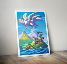 Seiken Densetsu 3 Trials of Mana Flammie Vuscav Promotional Art Poster 18x24