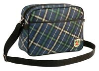 PAUL FRANK - TARTAN CHECK CABIN/SCHOOL/COLLEGE SHOULDER BAG - NAVY BLUE