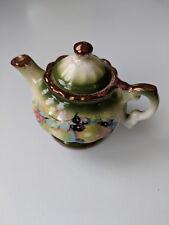 Miniature Mayfayre Teapot - Staffordshire England Pottery - Fruit Pattern