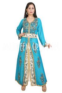Moroccan Islamic Kaftan Dubai Vary Fancy Abaya Party Wear Long Sleeve Dress Wear