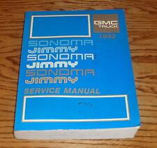 1992 GMC Truck Sonoma & Jimmy Shop Service Manual 92