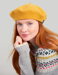 JOULES Wilsford Gold Coloured Felted Beret free UK P&P