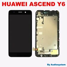 PR1 DISPLAY+ TOUCH SCREEN+COVER FRAME PER HUAWEI ASCEND Y6 NERO CORNICE LCD