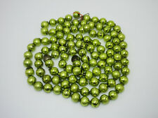 Vtg Strand Green Mercury Glass Bead String Christmas Feather Tree Garland