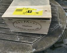 Traditional Empty French Wooden Wine Box 6 bottle size.