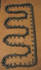 Lot (5) REX Rexnord #40 Wood Shaper Attachment Feed Chain Single Straight Tab