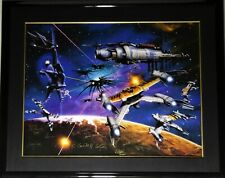 "Babylon 5 Ltd Ed Lithograph 554/1950 ""War Without End�, Signed 20 Cast & Artist"
