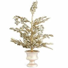 Sparkling Platinum Gold Artificial Holly Tree Topiary
