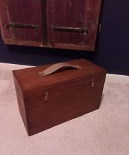 Antique Vintage Wood Engineers Watchmake Carpenter Tool Chest/Box/Case