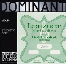 New Thomastik Dominant Violin String Sets A,D,G 4/4 with Goldbrokat E Ball