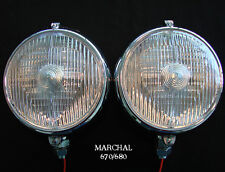 "MARCHAL 670/680 (5-3/4"") DRIVING LIGHTS WITH 12V. 55 WATT CLEAR BULBS"