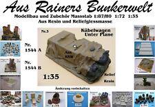 Für Diorama Nr.1544B Kübelwagen unter Plane 1:35 Resin