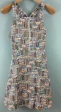 URBAN OUTFITTERS retro print A-line pinafore dress S 8/10 NEW