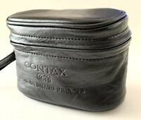 DHL [MINT] CONTAX G1 Camera Grand Prix 95 Genuine Leather Lens Case Japan #1262