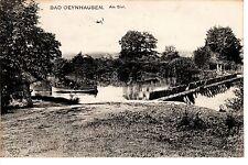 Bad Oeynhausen AK 1907 Am Siel Bootfahrer Nordrhein-Westfalen 1503540