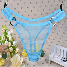 Women Sexy V-String Mesh Sheer Panties Underwear Lingerie Briefs Thongs G-String