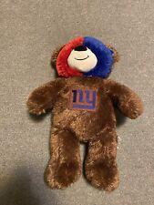 """Build a Bear Football New York Giants Bear Plush 16"""" Tall Face Paint"""