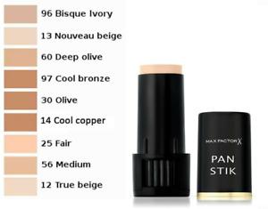 Max Factor Pan Stik Foundation 9g  --Choose shade--