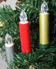 Guirnalda de Luces Navidad Juego 72pcs. F. SIN HILOS Magia Velas Rojo Oro Plata