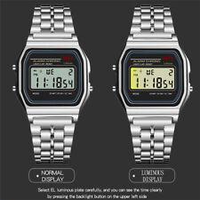 Hot Men Wrist Watch LED Retro Digital Unisex Classic silicon New multicolor