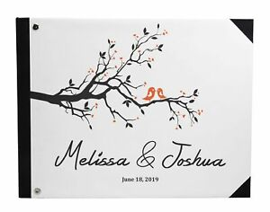 Wedding Guestbook Hardbound Cover Anniversary Wedding Guest Registry-DSPGB-113A