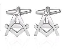 Freemasonry Masonic Square Compass Christmas Gift  Cufflinks Templar knight