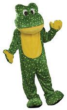 FROG Mascot Costume Adult Men's Green Plush Animal Reptile Halloween
