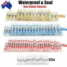 200pcs Solder Seal Sleeve Heat Shrink Butt Wire Connectors Waterproof Terminals